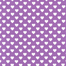 Hearts All Over Purple by Michael Miller