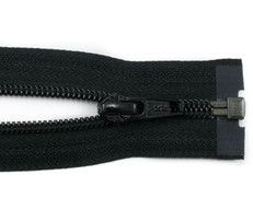 "100"" Black Separating Zipper"