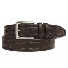 Men's Scored Center Belt - Brown
