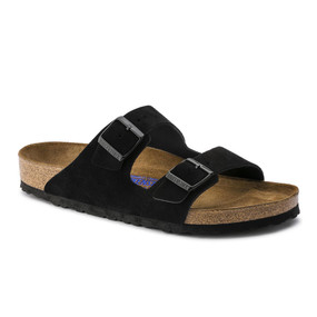 Arizona Soft Footbed - Black Suede (Regular Width)