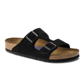 Birkenstock Arizona Soft Footbed - Black Suede (Regular Width)