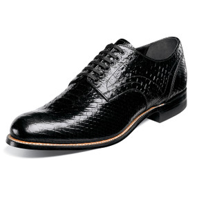 Men's Madison Plain Toe Oxford - Black Anaconda
