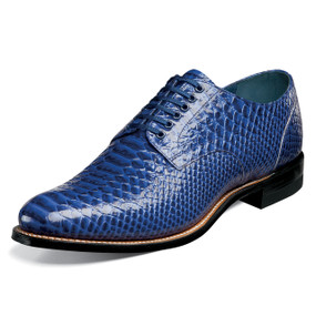 Stacy Adams Men's Madison Plain Toe Oxford - Blue Anaconda