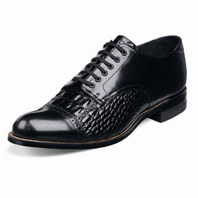 Stacy Adams Men's Madison Reptile Cap Toe - Black
