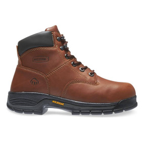 "Wolverine Men's Harrison Lace Up 6"" Work Boot - Brown"