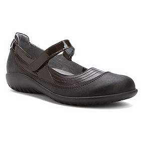 Naot Women's Kirei - Black Madras Leather / Shiny Black / Black Patent