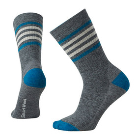 Women's Striped Hike Medium Crew Socks - Medium Gray