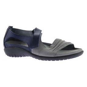 Naot Women's Papaki - Light Gray Nubuck / Polar Sea Leather