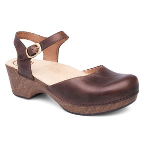 Dansko Women's Sam - Teak Vintage Pull Up