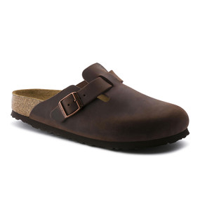 Birkenstock Boston - Habana Oiled Soft Footbed (Narrow Width)