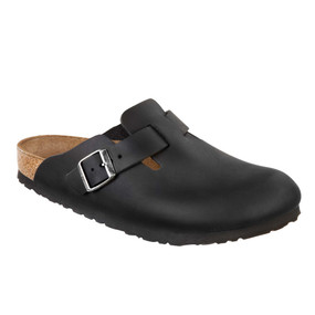 Birkenstock Men's Boston - Black Oiled Leather