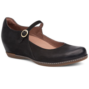 Dansko Women's Loralie - Black Burnished Nubuck