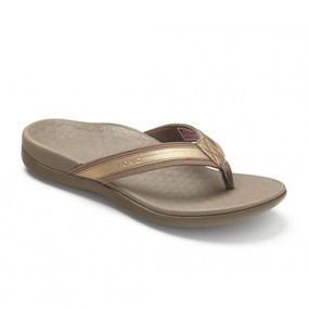 VIONIC Women's Tide II Toe Post Sandal - Bronze Metallic