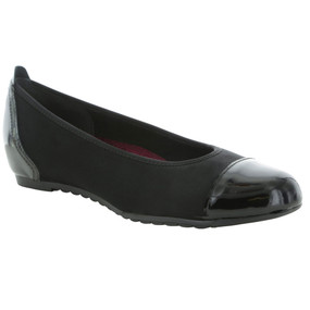 Munro Women's Henlee - Black Fabric / Patent
