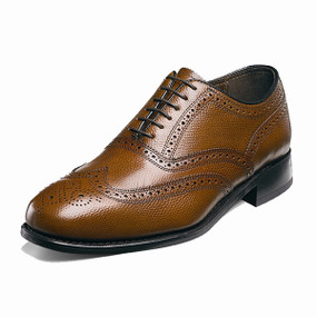 Men's Lexington Wing Tip Brogue - Cognac Pebble Grain