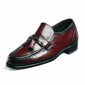 Men's Como Tassle Loafer - Black Cherry