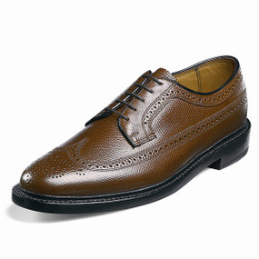 Men's Kenoor (Wing Tip Brogue) - Tan Pebble Grain
