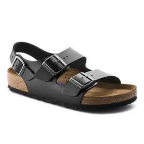 Birkenstock Milano - Black Amalfi Leather