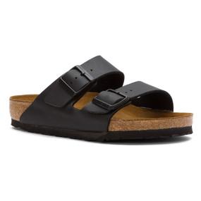 Birkenstock Arizona Soft Footbed - Black  Birko-Flor (Narrow Width)