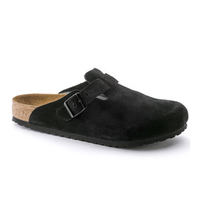 Boston - Black Suede Soft Footbed