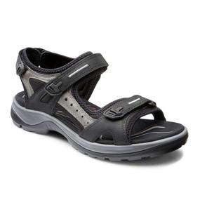 ECCO Women's Yucatan Sandal - Black / Mole