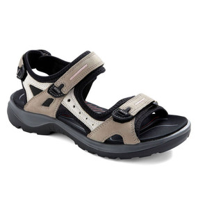 ECCO Women's Yucatan Sandal - Atmosphere / Ice White / Black