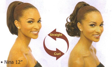 "12"" Synthetic Hair Drawstring Ponytail - Nina"
