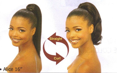"16"" Synthetic Hair Drawstring Ponytail - Alice"