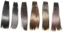 "12"" Remy Human Hair Yaki Weave 100g Tangle Free"