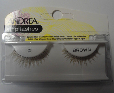 Andrea Fashion Strip Lashes Eyelash Style 21 Brown (Pack of 4)