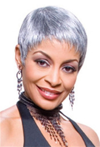Foxy Silver Synthetic Full Wig - Mary - Grey Color #3T51