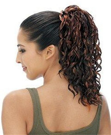 Synthetic Hair Drawstring Ponytail - Samba-83