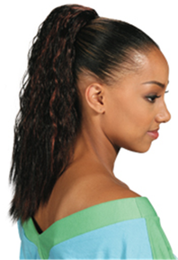 Synthetic Hair Drawstring Ponytail - Olive Tail
