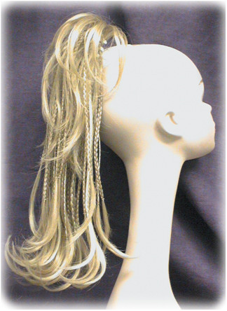 """Medium 16"""" Braided Claw Clip on Ponytail Hairpiece Flair Reversible"""