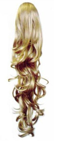 "Long Curly 24"" Clip Drawstring Ponytail Hairpiece Reversible Dm47"