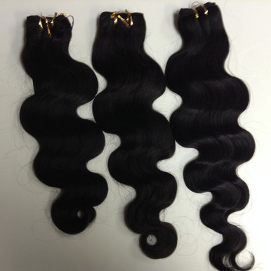 "3pcs Bundle 16"",18"", 20"" Malaysian Human Hair Wefts Wavy"