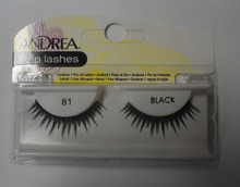 Andrea Fashion Strip Lashes Eyelash Style 81 Black (Pack of 6)