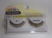 Andrea Fashion Strip Lashes Eyelash Style 33 Brown (Pack of 6)