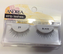 Andrea Fashion Strip Lashes Eyelash Style 21 Black (Pack of 6)