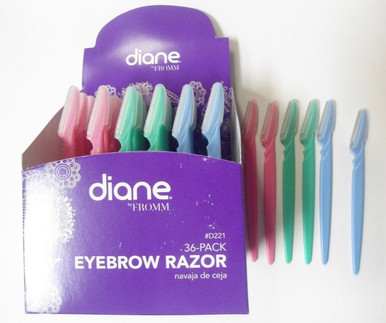 Diane by Fromm 36-Pack Eyebrow Razors Remove Hair from eyebrow, face, neck, + more d221