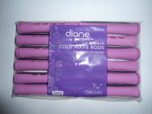 "Diane 9/16"" Cold Wave Rods Curlers Hair Perm #DCW3 12-Pack - Orchid"