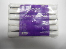 "Diane 7/16"" Cold Wave Rods Curlers Hair Perm #DCW4SH 12-Pack - White - Short"