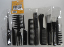 Magic 10 Piece Professional Styling Comb Set -Essential Salon Tools