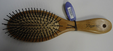 Diane by Fromm 9 Row Oval Cushion Paddle Bamboo Hair Brush D9571