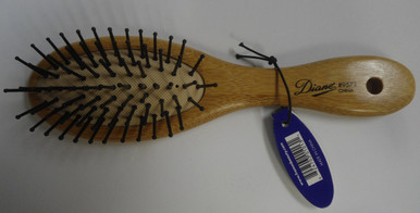 Diane by Fromm 7 Row Mini Oval Cushion Paddle Bamboo Hair Brush D9573