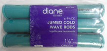"Diane 1 1/8"" Cold Wave Rods Curlers Hair Perm #DCWX 6-Pack - Green - Long"