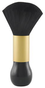 Diane by Fromm Large Neck Duster Black/Gold Handle D9851