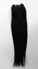 "14"" Brazilian Human Hair Extension Weft, 100g,  Natural Black - Straight"