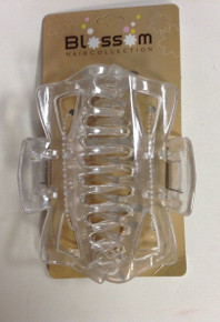 Large Hair Butterfly Claw [Jaw] Clips , Color Clear 2-Pack