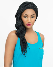Carefree Lace Front Wig Micro Box Braid Style ZendiaLF